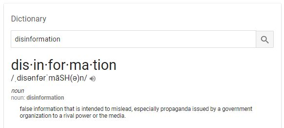 Definition Disinformation